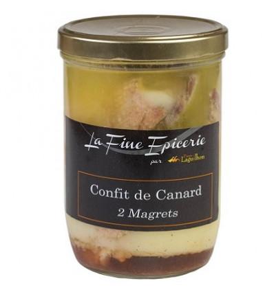 CONFIT DE CANARD 2 MAGRETS 700 g - Verrine 85 cl
