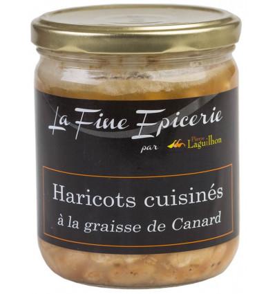 Haricots cuisinés graisse de canard 385 g - Verrine 44,6 cl