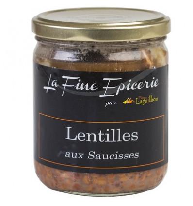 Lentilles aux saucisses 385g - Verrine 44,6cl