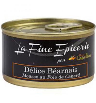DELICES BEARNAIS MOUSSE AU FOIE DE CANARD 125G _ BOITE OF 1/6 RONDE