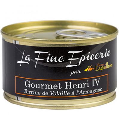 GOURMET HENRI IV TERRINE VOLAILLE A L'ARMARGNAC 125G _ BOITE OF 1/6 RONDE
