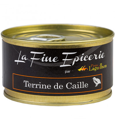 TERRINE DE CAILLE 125G _ BOITE OF 1/6 RONDE