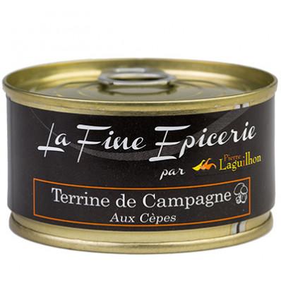 TERRINE DE CAMPAGNE AUX CEPES 125G _ BOITE OF 1/6 RONDE