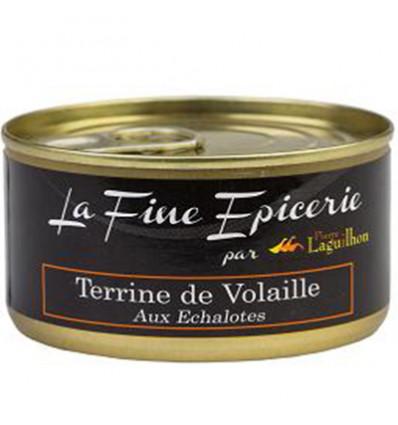 TERRINE DE VOLAILLES AUX ECHALOTES CONFITES 125G _ BOITE OF 1/6 RONDE