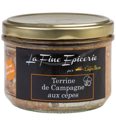 Terrine de campagne aux cèpes 180 g - Verrine 24,5 cl