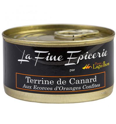 TERRINE DE CANARD AU ECORCES D ORANGES CONFITES 125G _ BOITE OF 1/6 RONDE