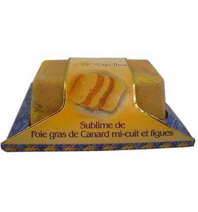 Foie gras de canard entier IGP Sud-ouest à la Figue - Mi-cuit - Barquette 200 g