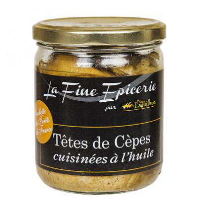 Tête de cépes cuisinées à l'huile cueillette des forêts de France - Verrine 350 g