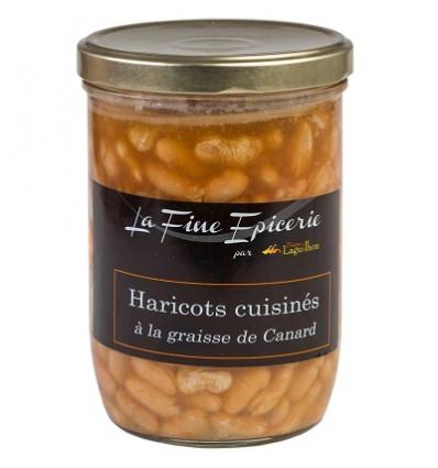 Haricots cuisinés à la graisse de canard - Verrine 750 g