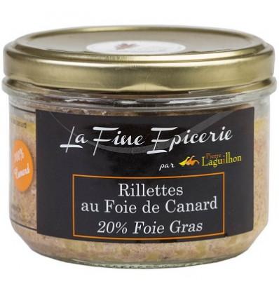 Rillettes de canard au Foie gras (20% Foie gras) - Verrine 180 g