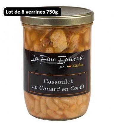 Colis de 6 verrines de Cassoulet de canard en confit - 750gr