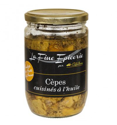 Cépes cuisinés à l'huile Cueillette des forêts de France - Verrine 520 g