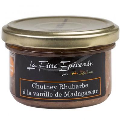 CHUTNEY RHUBARBE A LA VANILLE DE MADAGASCAR - Verrine 90 g