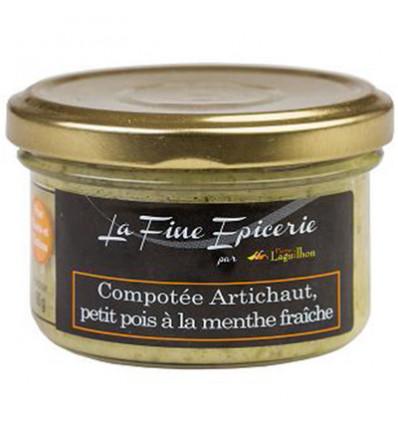 COMPOTEE ARTICHAUT, PETIT POIS A LA MENTHE FRAICHE - Verrine 90 g