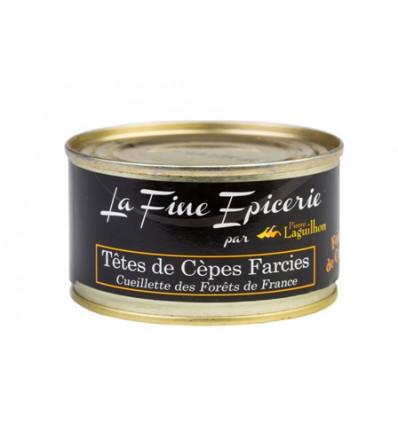 """TETES DE CEPES FARCIES AU FOIE GRAS """"Cueillette des Forêts de France""""125 G - BOITE 1/6 RONDE"""