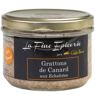 GRATTONS DE CANARD aux Echalotes 180 g - Verrine 24,5 cl