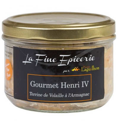 GOURMET HENRI IV TERRINE VOLAILLE A L'ARMAGNAC 180 g - Verrine 24,5 cl