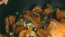 Plats préparés à base de cèpes et de champignons