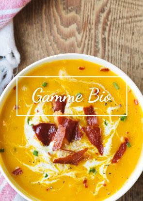 Découvrez notre nouvelle gamme BIO ! Les légumes frais sont mis à l'honneur dans les différentes recettes classiques et des spécialités plus originales aux accents de Sud-ouest.